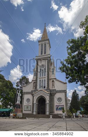 Christmas Decorations And Interior Of The Tan Dinh Church In Ho Chi Minh City, Vietnam