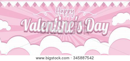 Happy Valentaine Background Landscape Mode For Web, Applications And Pamphlets.
