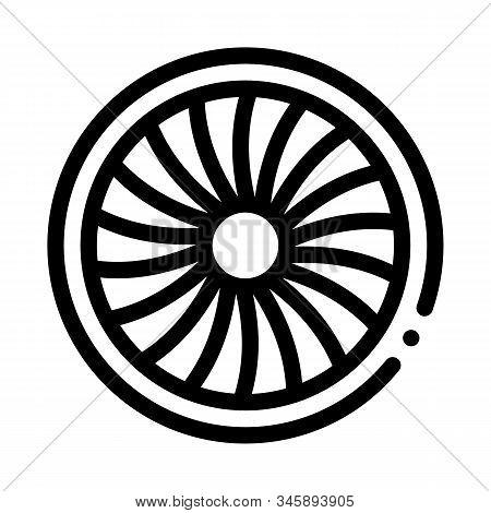 Turbine Engine Icon Vector. Outline Turbine Engine Sign. Isolated Contour Symbol Illustration