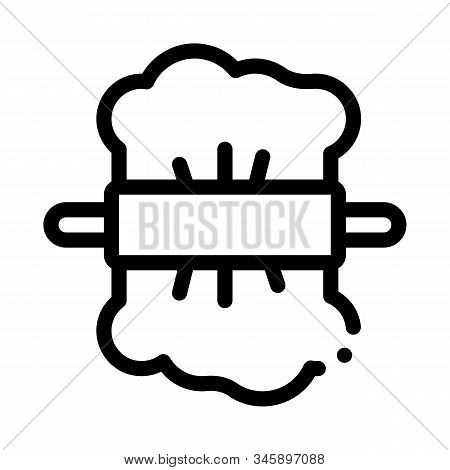 Rolling Dough Icon Vector. Outline Rolling Dough Sign. Isolated Contour Symbol Illustration