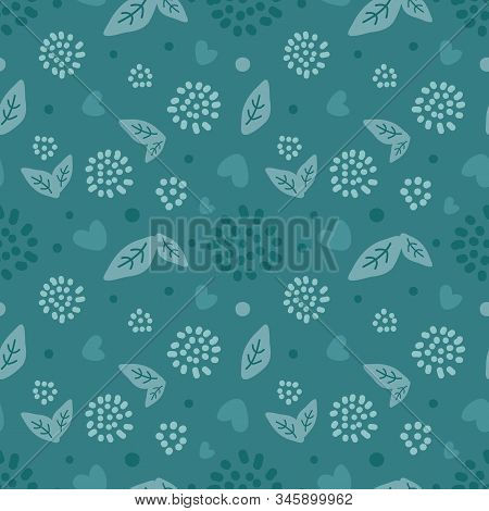 Abstract Nature Pattern. Scandinavian Seamless Texture. Creative Baby Print, Childish Drawing Decora