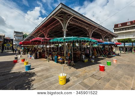 Pointe-a-pitre, Guadeloupe - December 14, 2018: Central Market In Pointe-a-pitre, In The French Over