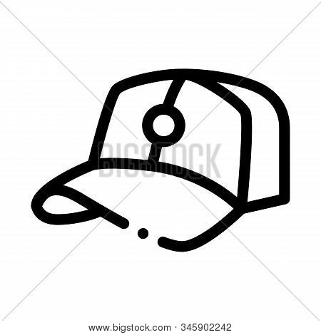 Baseball Cap Hat Icon Vector. Outline Baseball Cap Hat Sign. Isolated Contour Symbol Illustration