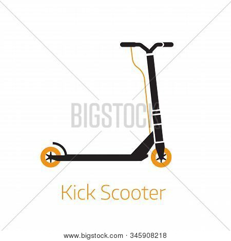 Kick Scooter Outline Logo Symbol Bw Illustration