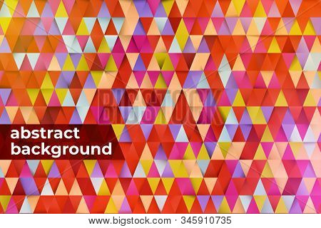 Colored Triangles Abstract Background. Design Templates With Copy Space For Text. 3d Minimalist Geom