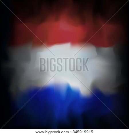 Netherlands Abstract Flag Background For Creative Design. Graphic Abstract Dark Background. National