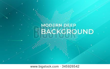 Modern Deep Background. Fluid Shapes Composition. Abstract Fluid Color Pattern Of Neon Color Liquid