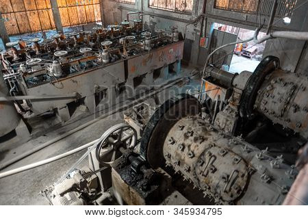 Silver mining factory in the city of Potosi in Bolivia