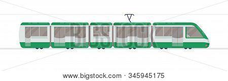 Passenger Train. Subway Transport Underground Train Vector