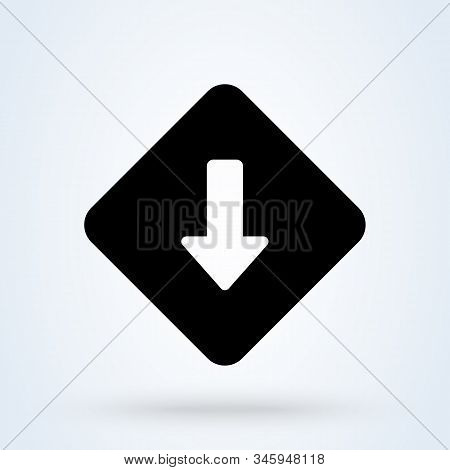 Low Priority Icon. Vector Simple Modern  Design Illustration.
