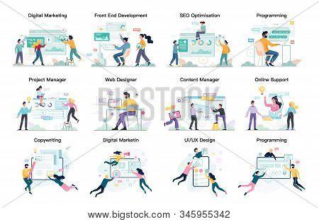 Modern Web Business Service Set. Web Development