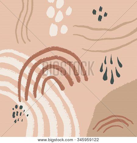 Printable Wall Digital Print Neutral Boho Decor Abstract Minimalist Modern Art Neutral Tones Vector
