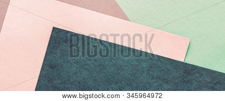 Abstract Blank Paper Texture Background, Stationery Mockup Flatlay Backdrop, Brand Identity Design M