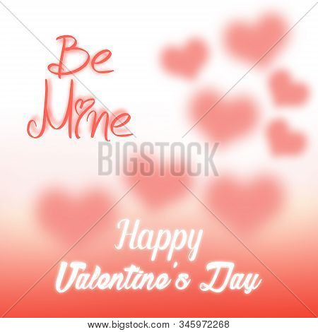 Happy Valentines Day Printable Poster. Typography Poster Design Valentines Day For Greeting Cards An