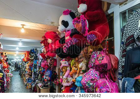 Kutaisi, Georgia, October 13, 2019 : Toy Market Located In The Underpass Near The Market In The Old