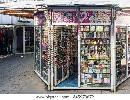 Kutaisi, Georgia, October 13, 2019 : The Market Of Souvenirs Located In The Underpass Near The Marke