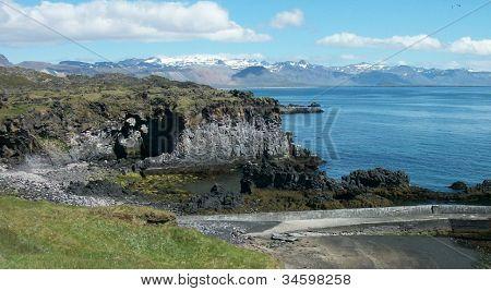 Rugged arctic coastal beauty