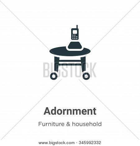 Adornment icon isolated on white background from furniture and household collection. Adornment icon