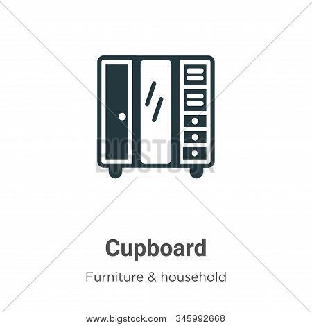Cupboard Vector Icon On White Background. Flat Vector Cupboard Icon Symbol Sign From Modern Furnitur