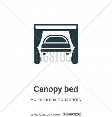 Canopy bed icon isolated on white background from furniture and household collection. Canopy bed ico