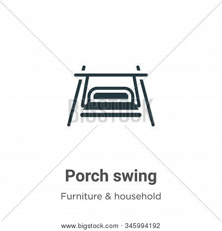 Porch Swing Vector Icon On White Background. Flat Vector Porch Swing Icon Symbol Sign From Modern Fu