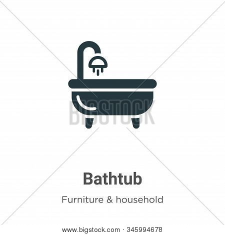 Bathtub icon isolated on white background from furniture collection. Bathtub icon trendy and modern