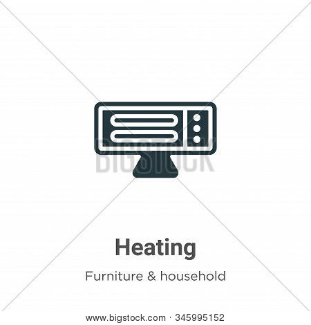 Heating icon isolated on white background from furniture collection. Heating icon trendy and modern