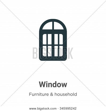 Window icon isolated on white background from furniture collection. Window icon trendy and modern Wi