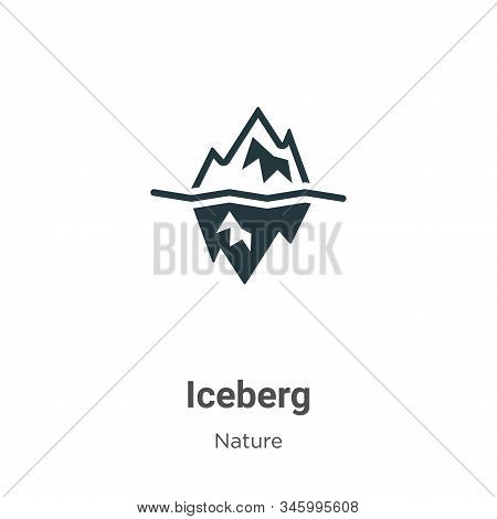 Iceberg icon isolated on white background from nature collection. Iceberg icon trendy and modern Ice