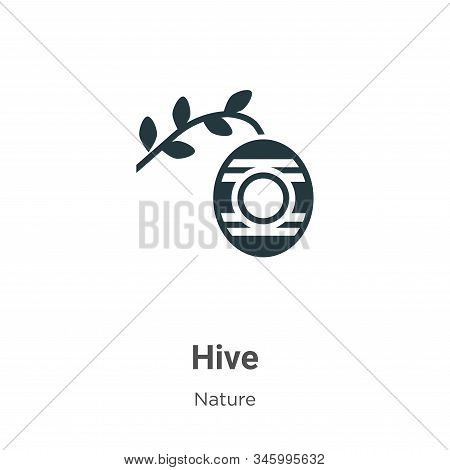 Hive icon isolated on white background from nature collection. Hive icon trendy and modern Hive symb