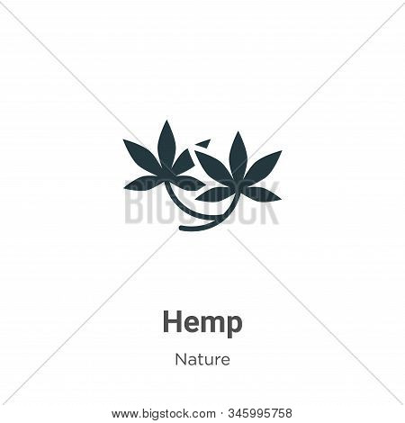 Hemp Vector Icon On White Background. Flat Vector Hemp Icon Symbol Sign From Modern Nature Collectio