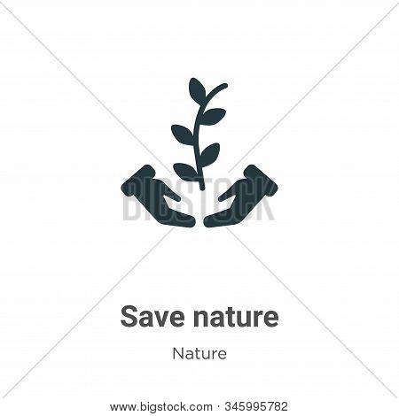 Save nature icon isolated on white background from nature collection. Save nature icon trendy and mo