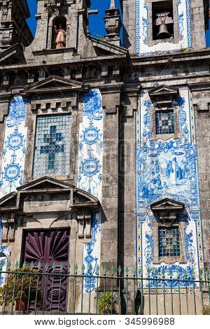 Detail Of The Azulejo Tilework Of The Historical Igreja De Santo Ildefonso An Eighteenth-century Chu