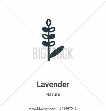 Lavender icon isolated on white background from nature collection. Lavender icon trendy and modern L