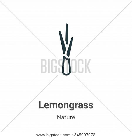 Lemongrass icon isolated on white background from nature collection. Lemongrass icon trendy and mode