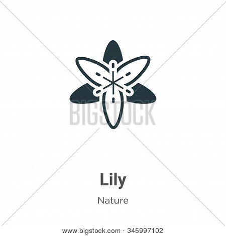 Lily icon isolated on white background from nature collection. Lily icon trendy and modern Lily symb