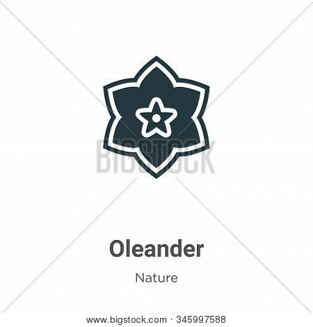 Oleander icon isolated on white background from nature collection. Oleander icon trendy and modern O