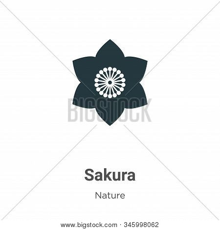 Sakura icon isolated on white background from nature collection. Sakura icon trendy and modern Sakur