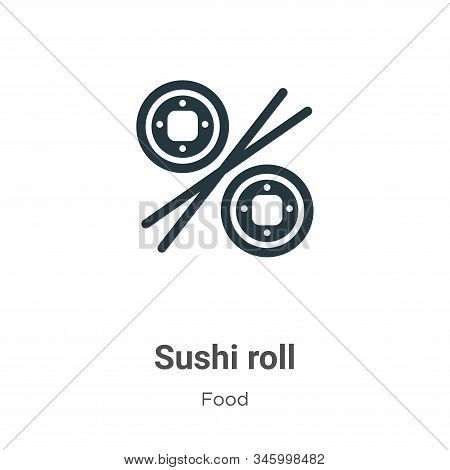 Sushi roll icon isolated on white background from food collection. Sushi roll icon trendy and modern