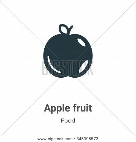 Apple fruit icon isolated on white background from food collection. Apple fruit icon trendy and mode