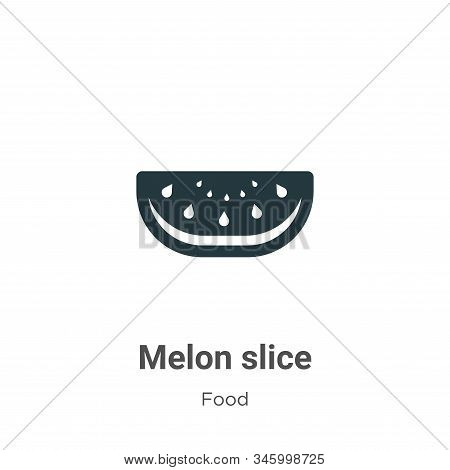 Melon slice icon isolated on white background from food collection. Melon slice icon trendy and mode