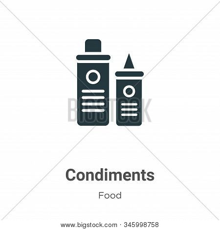 Condiments icon isolated on white background from food collection. Condiments icon trendy and modern