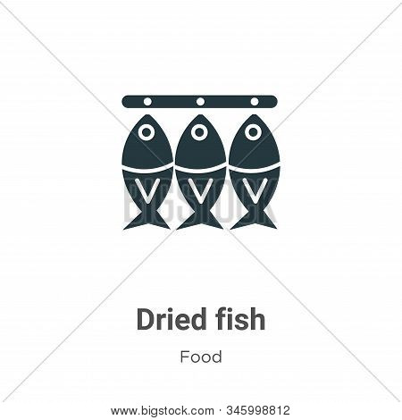 Dried fish icon isolated on white background from food collection. Dried fish icon trendy and modern