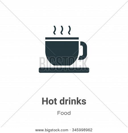 Hot drinks icon isolated on white background from food collection. Hot drinks icon trendy and modern