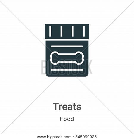 Treats Vector Icon On White Background. Flat Vector Treats Icon Symbol Sign From Modern Food Collect