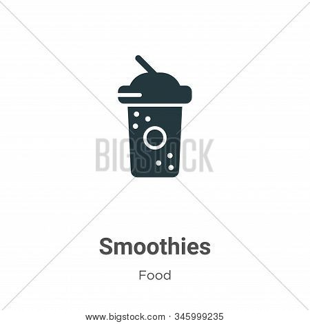 Smoothies Vector Icon On White Background. Flat Vector Smoothies Icon Symbol Sign From Modern Food C