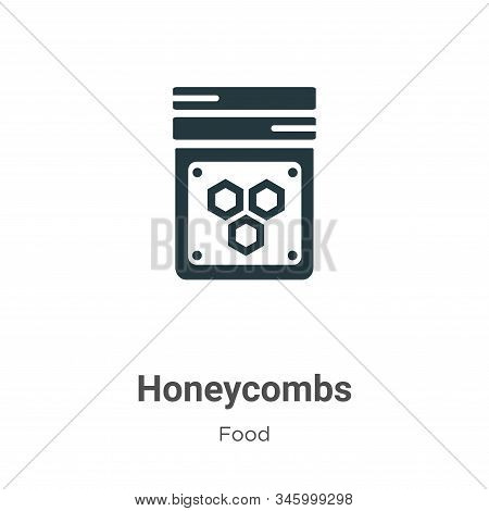 Honeycombs icon isolated on white background from food collection. Honeycombs icon trendy and modern