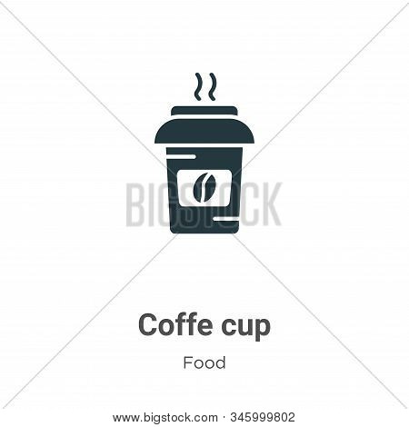 Coffe cup icon isolated on white background from food collection. Coffe cup icon trendy and modern C