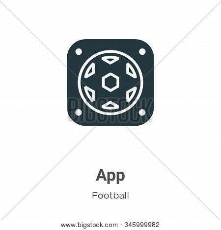 App icon isolated on white background from football collection. App icon trendy and modern App symbo