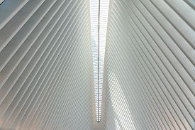New York, United States Of America - September 19, 2019: Interior View Of The World Trade Center Tra
